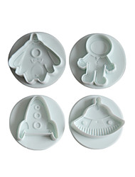 Universe Space Robot 4 pcs Cookie Cutter Cupcake Pastry DIY Decorating Tools
