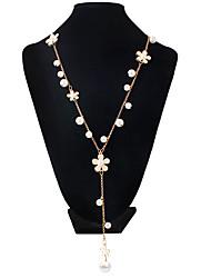 Ожерелье Y-ожерелья Бижутерия Свадьба / Для вечеринок / Повседневные Двойной слой / Искусственный жемчуг Сплав / Искусственный жемчуг