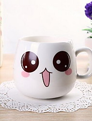 Cute Face Mug Cartoon Ceramic Cup Milk Cup (Random Color)