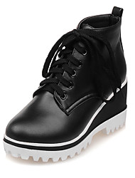 Women's Shoes Wedges / Fashion Boots / Round Toe Boots Office & Career / Dress / Casual Wedge Heel Lace-up