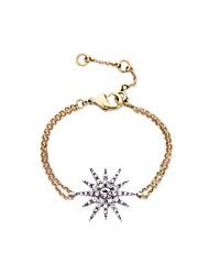Bohemian Rhinestone Chain Bracelets Golden Rhinestone Star Bracelet Fashionable Geometric Alloy Jewellery
