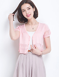 Women's Going out / Casual/Daily Simple / Cute Short Cardigan