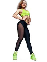 Для женщин Для женщин С перекрещивающимися элементами Legging,Сетка / Полиэстер