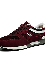 Men's Sneakers Fall Comfort Suede Outdoor / Athletic Flat Heel Others Black / Blue / Burgundy Fitness  Training