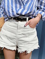 Damen Jeans Hose-Lässig/Alltäglich Einfach einfarbig Baumwolle Micro-elastisch Sommer