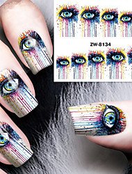Fashion Printing Pattern Water Transfer Printing Abstract Eye Nail Stickers