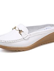 Damen-Sandalen-Lässig-Leder-Flacher Absatz-Komfort-Blau / Gelb / Rot / Weiß