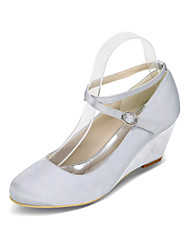 Women's Heels Spring / Summer / Fall Wedges / Heels / Round Toe Silk Wedding / Party & Evening