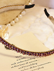 Korean Fashion Women's Multi Crystal Plastic Headbands
