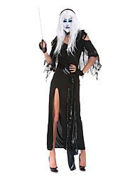 Costumes de Cosplay / Costume de Soirée Esprit / Zombie / Vampire Fête / Célébration Déguisement Halloween Noir VintageRobe / Gants /