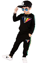 Boy's Cotton Spring/Autumn Fashion Cartoon Tracksuit Long Sleeve Shirt And Pants Sport Suit Two-piece Set