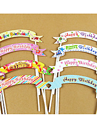 Birthday Party Tableware-10Piece/Set Cake Accessories Tag Hard Card Paper Rustic Theme Other Non-personalised Multi Color