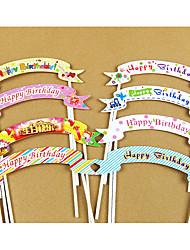 Aniversário Festa Tableware-10Peça/Conjunto Acessório para Bolo Marcador Cartão de Papel Duro Tema rústico Other Não-Personalizado