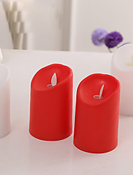 Hochzeit Party Zubehör 1Stück / Set LED-Lampen Plastic Klassisches Thema Zylinder Nicht-individualisiert Rot / Weiß