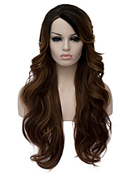 Perruques sans bonnet Perruques pour femmes Marron Perruques de Costume Perruques de Cosplay