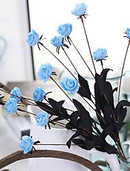 1 Une succursale Mousse de polystyrène Roses Fleur de Table Fleurs artificielles