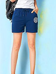 Damen Hose - Einfach Kurze Hose / Chinos Baumwolle Mikro-elastisch