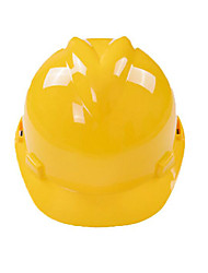 Yellow Red And Orange Adjustable Size For Ultra High Molecular Weight Polyethylene Plastic Yellow V-Shaped Abs Helmet