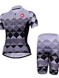 KEIYUEM Camisa com Shorts para Ciclismo Unissexo Manga Curta MotoRespirável Secagem Rápida Á Prova-de-Pó Vestível Elástico Redutor de