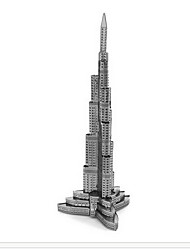 Пазлы 3D пазлы Строительные блоки DIY игрушки известные здания 1 Металл Розовый Игра Игрушка