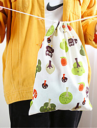 Stamp Cotton Travel Bag Pocket Tea Luggage Drawstring Bags Clothes Storage Bag Finishing