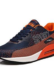 Femme-Décontracté-Noir / Orange-Talon Plat-Confort-Sneakers-Tulle