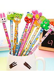 b10-1-07 Prix étudiants bon marché de belles idées cadeaux cadeaux d'entreprise crayon avec un manchon en caoutchouc t