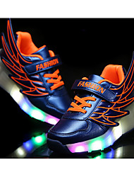 LED Light Up Shoes, Girl's Flats Summer Roller Skate Shoes PU Casual Flat Heel Black / Royal Blue / Fuchsia / Orange Others
