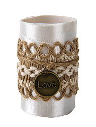 Set of 2 Circle jute Crystal Love Napkin Rings for Wedding Set the Tablecloth