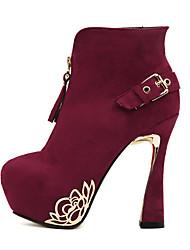 Feminino-Botas-Sapatos clube Light Up Shoes-Salto Agulha-Preto Verde Vermelho-Courino-Social Casual