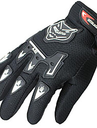 Motorcycle Full Finger Gloves Nontoxic Odorless Water Resistant Breathable Slip Drop Resistance