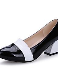 Women's Dance Shoes Heels Modern Leatherette Low Heel Outdoor Black/White