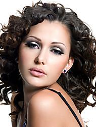 couleur noire courtes perruques frisées pour les femmes perruques synthétiques résistantes à la chaleur nouvelle de la mode