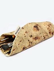 criativa personalidade alimentos simulação de impressão frito burrito caixa de lápis