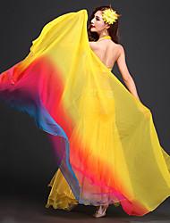 Echarpe de Danse du Ventre(Violet / Rouge / Jaune,Polyester,Danse du ventre)Danse du ventre- pourFemme