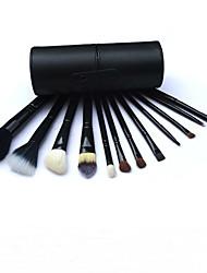 12 Cylinder Makeup Brush High-Grade Animal Wool