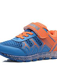 Para Meninos-Tênis-Conforto Light Up Shoes-Rasteiro-Azul-Tule Couro Ecológico-Ar-Livre