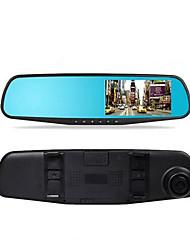 4,3 pouces enregistreur vue arrière rétroviseur hd lentille unique lentille bleue