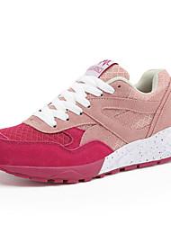 Da donna-Sneakers-Casual-Comoda-Piatto-Tulle-Rosa Viola Rosso