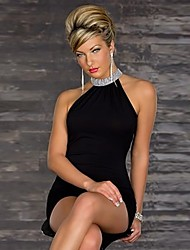 Women's Sexy Inelastic Sleeveless Above Knee Dress (Cotton Blends)