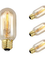 gmy 4шт T45 Edison шарика марочные 40w лампа Е27 AC220-240V украсить лампу