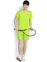 Laufen Kleidungs-Sets/Anzüge Herrn Kurze Ärmel Atmungsaktiv Baumwolle / 100% PolyesterFitness / Freizeit Sport / Badminton /