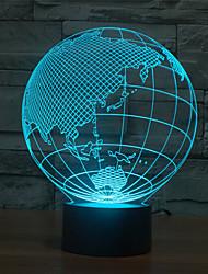 карта Азии касания затемнением 3D LED свет ночи 7colorful украшения атмосфера новизны светильника освещения свет рождества