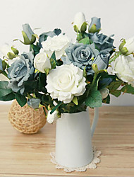 Hi-Q 1Pc Decorative  Real Touch Rose Flower Wedding Home Table Decoration Artificial Flowers