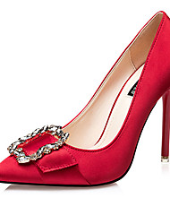 Damen-High Heels-Lässig-Seide-Stöckelabsatz-Absätze-Schwarz / Rot / Grau / Gold