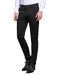 Men's Solid Casual / Work / Formal Suits,Nylon / Spandex Black / Blue