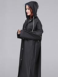 Black Raincoat Rainy Plastic / Textile Lady / Men