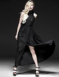 Punk Rave q-235 Frauen-Weinlese / sexy Mikro-elastisch sleeveless Maxi-Kleid (Spandex)