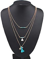 Ожерелье Ожерелья-цепочки / Заявление ожерелья / Слоистые ожерелья Бижутерия Свадьба / Для вечеринок / Повседневные Модно / обожаемый
