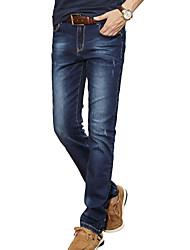 Men's Solid Casual Suits,Cotton Blue CY309